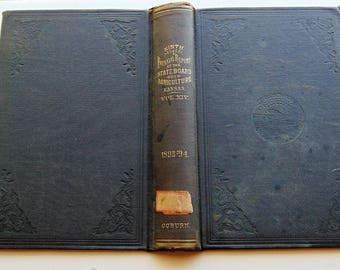 1895 Antique Black Book Covers