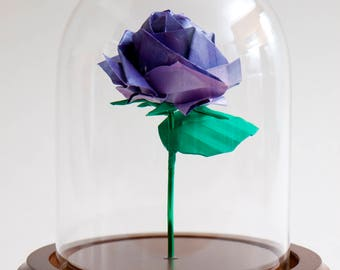 Eternal rose pearly purple origami small decorative globe