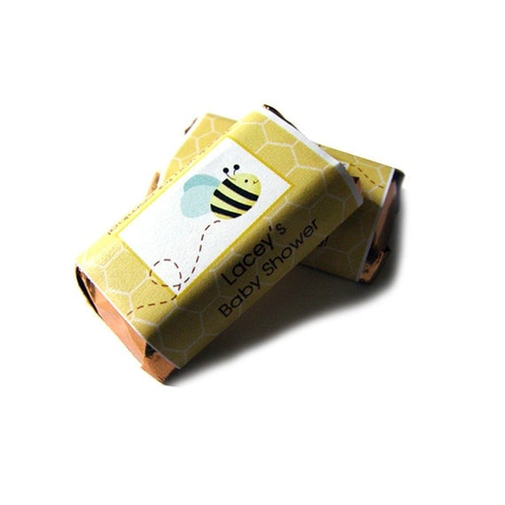50 Bumble Bee Honey Bee Miniature Mini Candy Wrappers Customized
