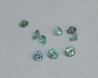 Kornerupine Rounds, Tanzanian Kornerupine,  3mm round Kornerupine, Kornerupine Gems, Tanzanian Gems, Blue Green Gems