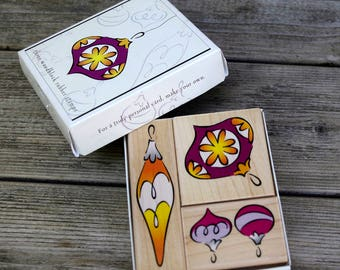 Hero Arts Wood Mounted Rubber Stamp Set Heritage Ornaments Fancy Notes