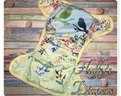 Ready To Ship One Size OS Love Birds Easter PUL Cloth Diaper Cover With Snaps.