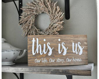This is us Painted Wood Sign