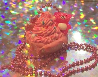 Sweet Kawaii Cupcake Necklace