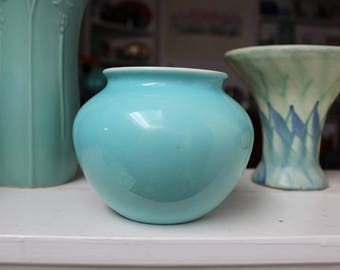GMB Gladding McBean Franciscan Pottery Rose Bowl Blue and White Vase VINTAGE by Plantdreaming