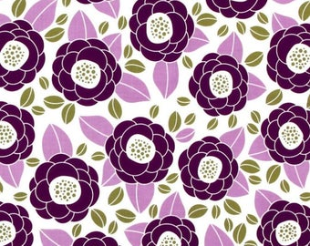 1/2 yard - Bloom in Lilac, Aviary 2 collection by Joel Dewberry