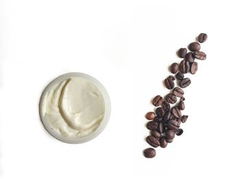 Organic Coffee Body Butter made with Madagascar Vanilla 2oz Shea Butter Cacao Butter exclusive to Etsy Customers Only