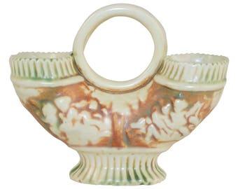 Roseville Pottery Donatello Ring Handled Double Vase
