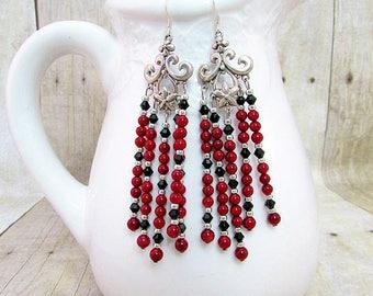 Coral Chandelier Earrings - ER20 -