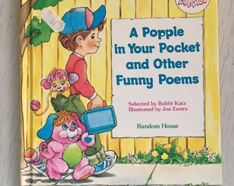 1986 Popples hardcover children's book