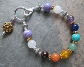 Reserved Listing for Varsha - Custom Chakra Bracelet