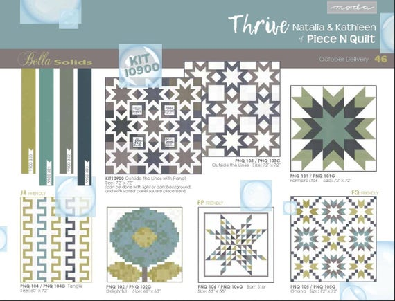 Moda thrive 24 x 44 quilt pillow panel grey outer for Outer space fabric panel