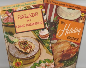 Shop-Rite Super Markets Two Vintage Cookbooks Culinary Arts Institute Holiday Salads Recipe Book Booklets