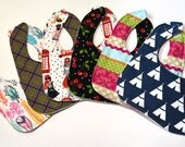 RESERVED FOR MARTHA Baby Burp Cloths and Bibs, Nursing Feeding or Drool Infant Bibs