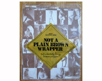 vintage nude 1980 ADULT GIFT WRAP Not a Plain Brown Wrapper unopened