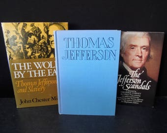 Thomas Jefferson Book Set -  President United State America USA - History - Jefferson Scandals The Wolf by the Ears Biography Books