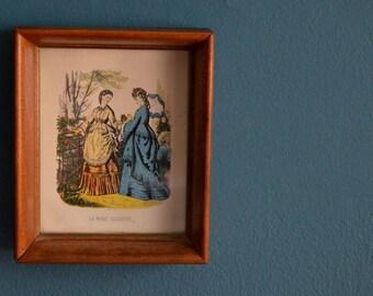 Vintage Small Framed La Mode Illustree Print