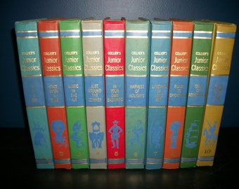Vintage Colliers Junior Classics Complete 10 Book Set