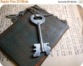 Precipice . Large antique Skeleton Key Necklace. Gift for Him. Unisex.