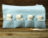 arctic pocket pal play pouch with four animal pocket pals by kata golda