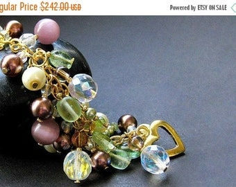 SUMMER SALE Handmade Charm Bracelet - The Vineyard. Handmade Bracelet.