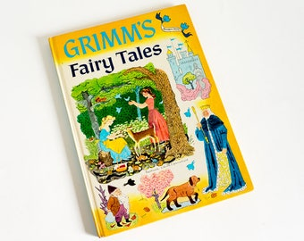 Vintage 1950s Childrens Book / Grimms Fairy Tales Retold by Rose Dobbs 1955 Hc / Eight Classic Grimms Fairy Tales