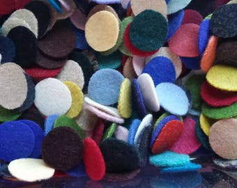 """110 1"""" New colors added  Wool penny rug circles"""