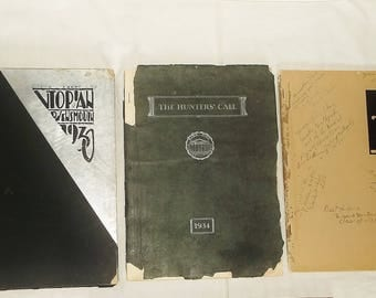 Vintage UTOPIAN YEARBOOK & The Hunters' Call • Owensmouth / Canoga Park • 1930, 1932, 1934 • California • Your Choice of One