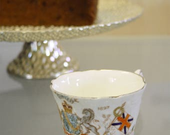 Antique Queen Victoria Diamond jubilee tea cup by W & Sons