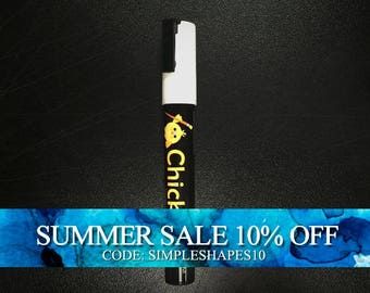 Chalk Ink - Chalkboard Marker - Chalk - Chickarts - White 6mm - White Chalk Marker