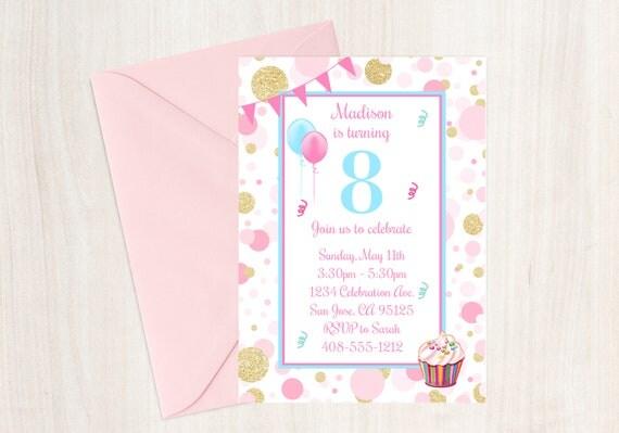 8th birthday party invitation 8th birthday eighth birthday invite il570xn filmwisefo