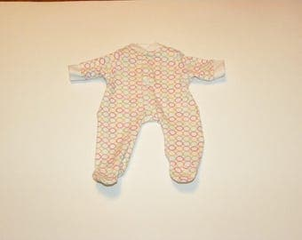 Circle Patterned Footed sleeper - 12 inch doll clothes