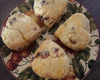 Gluten Free OR Gluten Free Vegan  Orange Cranberry Scones