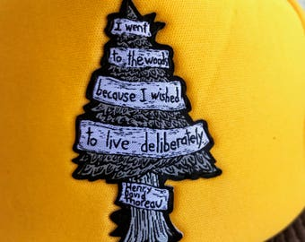 To Live Deliberately  trucker hat