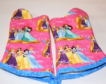 Kids Princess Oven Mitt Set/Birthday Gift/ Gift for Girls/ Christmas Gift/ Playhouse/ Home Decor/ Children's Gift/ Fun gift