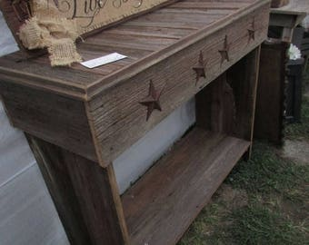 Farmhouse Wood Console Table Reclaimed Wood Table Country