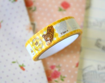 02 Rilakkuma Bear Cartoon Washi Masking Tape