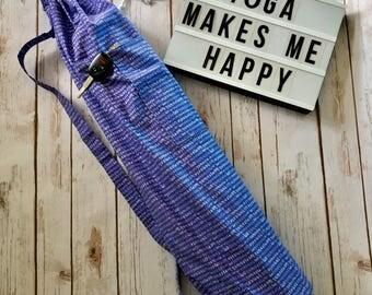 Yoga Bag - Yoga Teacher Gift - Yoga Mat Bag with Pocket - Yogi Gift - Yoga Mat Bag - Purple Namaste Design - Gifts for Her