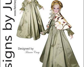 "PDF Afternoon Stroll Pattern for 16"" Poppy Parker & Tullabelle Dolls Integrity"