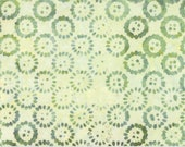Light Green Batik Fabric - Latitude Compass Valley - Moda 27250 305 - One 1 Yard Cut BTY