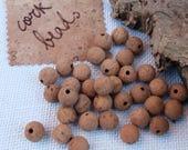25pcs 16mm Cork pearls, high quality Portuguese cork, vegan earrings, necklaces, bracelets, keyrings & DIY crafts, hobbies, fishing