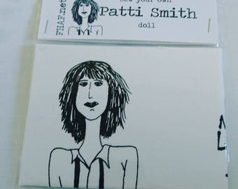 Sew your own PATTI SMITH doll// doll kit//craft//music fan