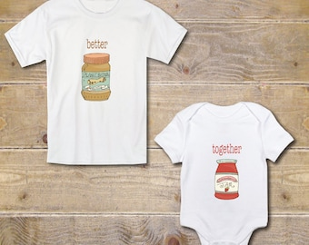 Big Brother Little Sister Shirts, New Big Sister Shirt, Baby Shower Gift, Gender Neutral, Peanut Butter and Jelly, New Big Brother Shirt