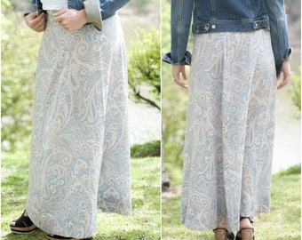 Maxi Skirt Boho - Maxi Print Skirt - Long Casual Skirt - Summer Skirt - Casual Maxi Skirt - Printed Boho Skirt - Maxi Festival Skirt
