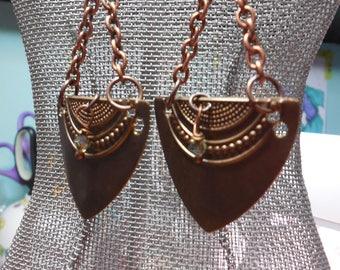 Vintage Metal Chandelier Earrings