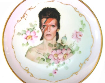 David Bowie Portrait Plate 7.5""