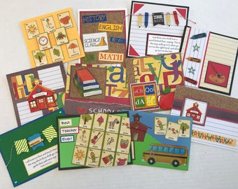 11 Back To School Cards, School Cards, Back To School, School, Christian Cards, Greeting Cards, Handmade Cards.