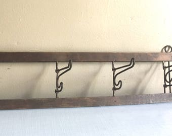 Vintage Four Hook Rack
