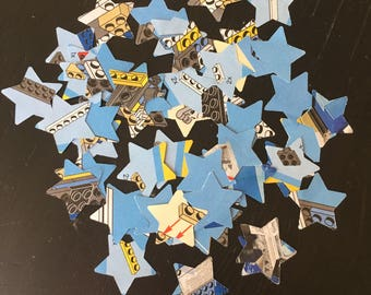 50+ star shaped die cuts from LEGO instructions