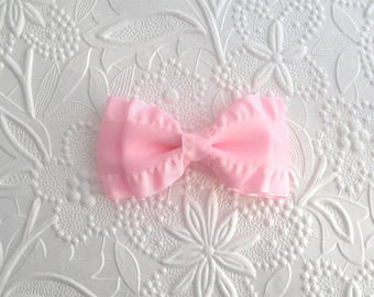 "Pink Ruffles Hair Bow ~ Toddler Girls 3"" Light Pink Ruffle Ribbon Hair Bow Clip"